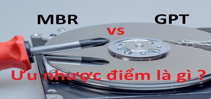 so sánh chuẩn MBR và GPT