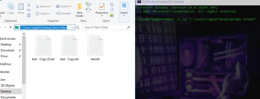 Xóa file, thư mục không thể xóa trên Windows 10