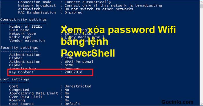 Xóa/quên mật khẩu Wifi Windows 10 bằng dòng lệnh