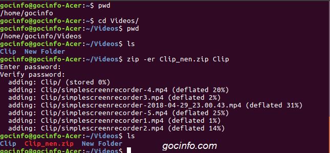 Đặt password cho file nén trên Linux Ubuntu