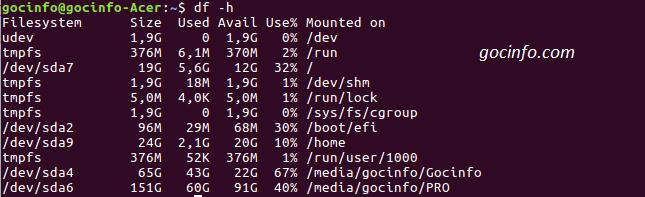 Các lệnh cơ bản trong Linux - Ubuntu sử dụng lệnh du -sh