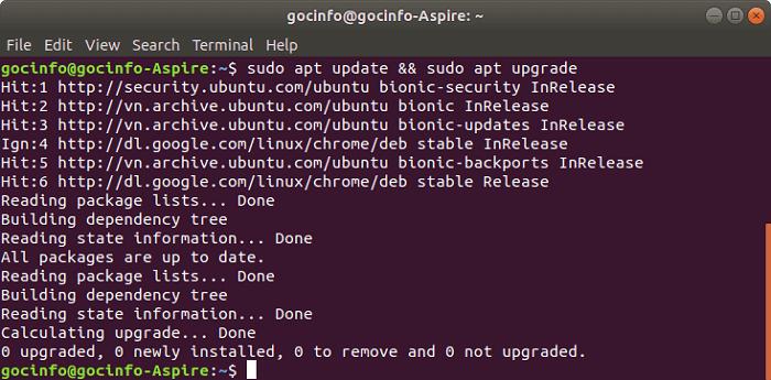 Những việc cần làm sau khi cài Ubuntu 18.04 LTS