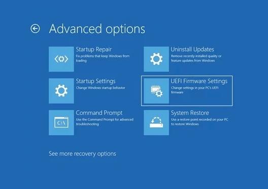 Vào BIOS Windows 10