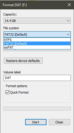 Định dạng nào cho USB là hợp lý - Các chuẩn định dạng phổ biến