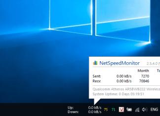 Hiển thị tốc độ mạng trên Windows 10 với NetSpeedMonitor