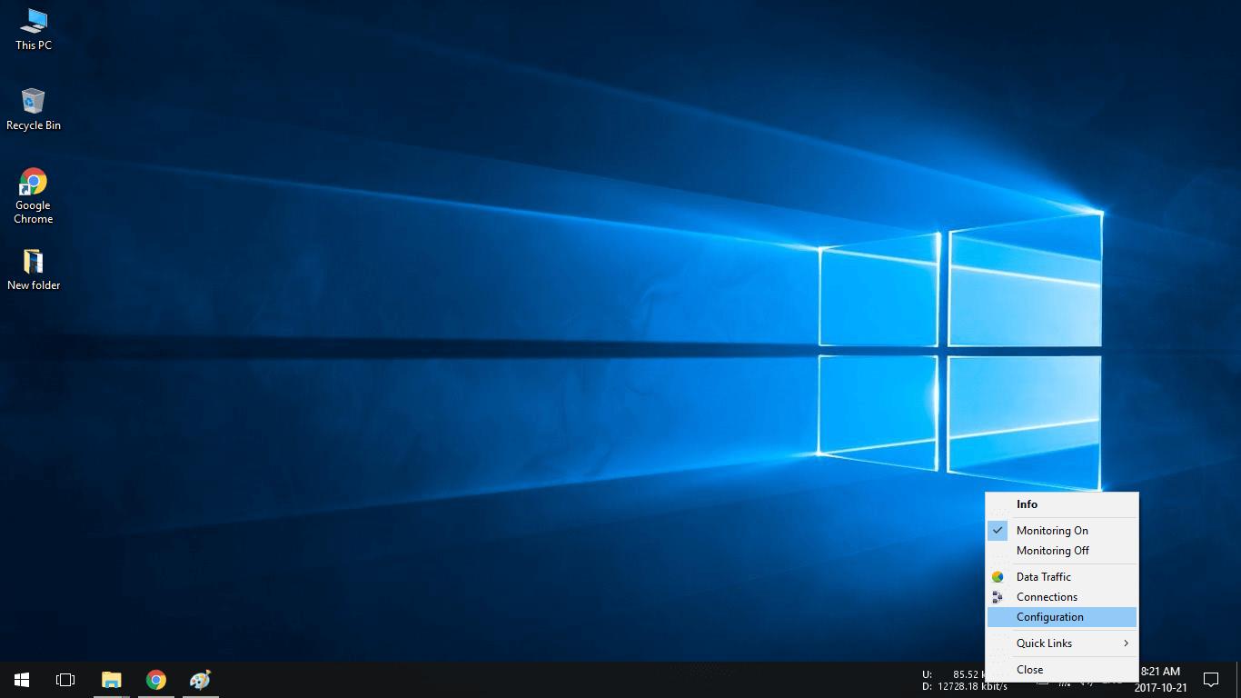 Hiển thị tốc độ mạng trên Windows 10