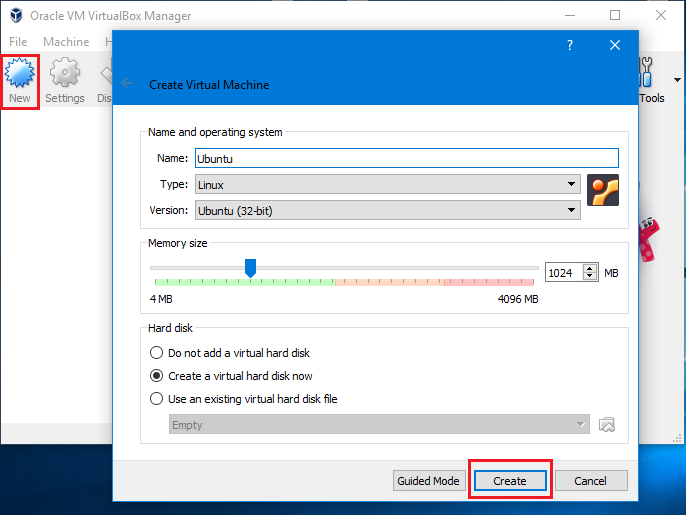 Cài đặt Ubuntu trên máy ảo VirtuaBox