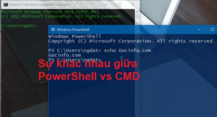 PowerShell vs CMD - Sự khác nhau giữa PowerShell và CMD