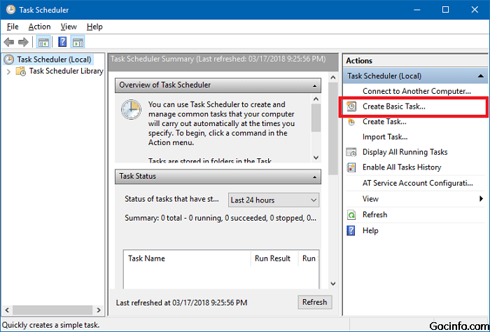 Lập lịch mở ứng dụng tự động sử dụng Task Scheduler trên Windows 10