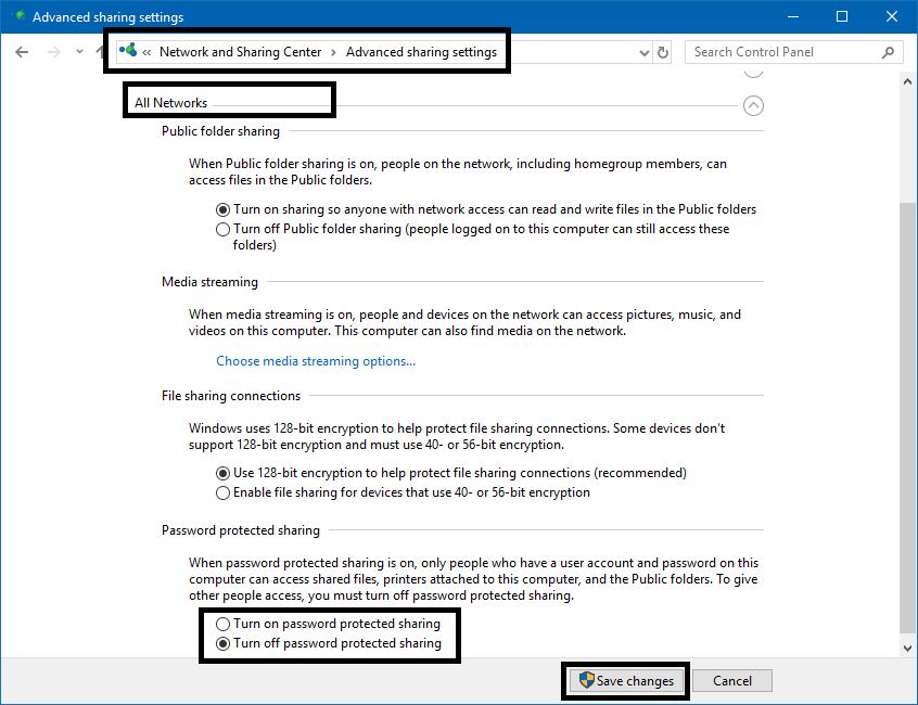 Chia sẻ dữ liệu qua mạng LAN Windows 10/8.1/7