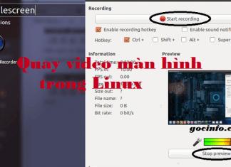 Quay video màn hình trong Linux Ubuntu