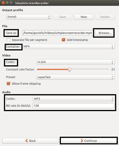 Quay video màn hinh trong Linux Ubuntu
