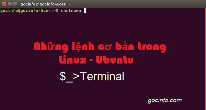 Các lệnh cơ bản trong Linux - Ubuntu