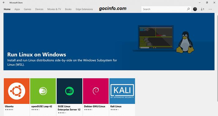 Chạy Linux trên Windows 10 - không máy ảo, không cài song song