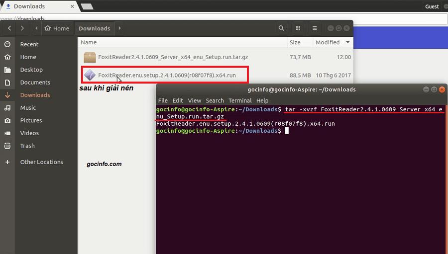 Cài đặt Foxit Reader - phần mềm đọc file pdf trên Linux