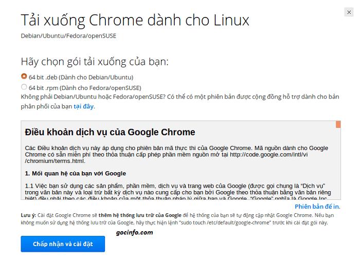 Cài đặt Google Chrome trên Ubuntu - trình duyệt phổ biến cho mọi người