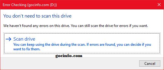 Cách kiểm tra ổ cứng bị bad sector trên Windows 10