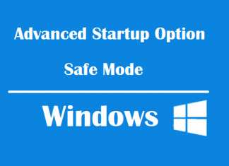 Các cách vào Advanced Startup Options và Safe Mode Windows 10/8/7