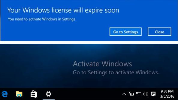 Windows 10 hết hạn sử dụng