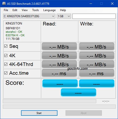 Phần mềm kiểm tra tốc độ đọc ghi ổ cứng SSD/HDD/USB