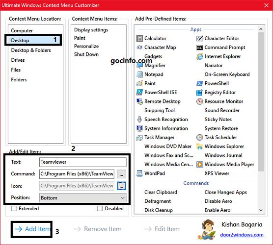 Cách thêm ứng dụng vào menu chuột phải Windows 10