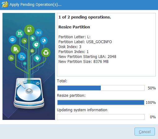 Phần mềm chia phân vùng cho USB không mất dữ liệu