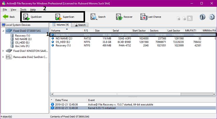 Cách khôi phục dữ liệu ổ cứng bị xóa, format nhầm