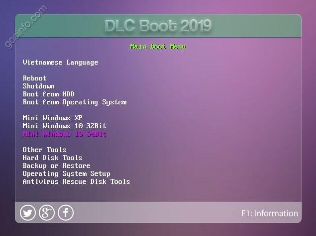 Tạo USB Boot DLC 2019 hỗ trợ UEFI - Legacy