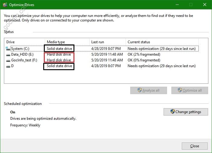 Cách kiểm tra ổ cứng SSD hay HDD trên máy tính Windows