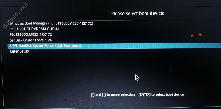Boot Options Laptop Asus