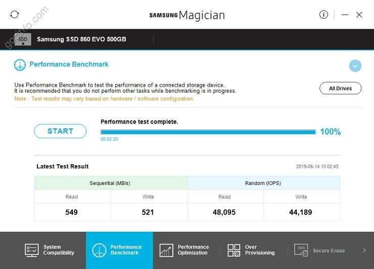 Sử dụng phần mềm quản lý ổ cứng SSD Samsung Magician