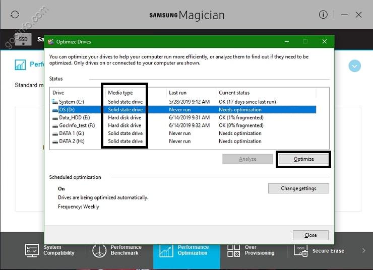 Sử dụng phần mềm quản lý ổ cứng SSD Samsung Magician | Góc Info