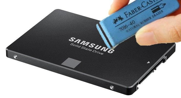Cách xóa sạch dữ liệu ổ cứng SSD Samsung không thể khôi phục