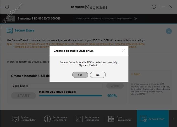 Xóa sạch dữ liệu ổ cứng SSD Samsung không thể khôi phục