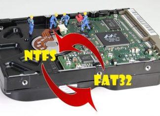 Chuyển NTFS sang FAT32 hay FAT32 sang NTFS không mất dữ liệu