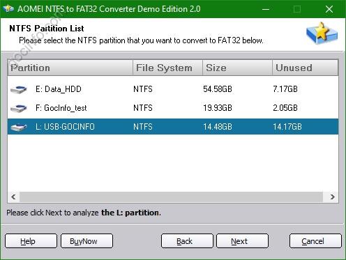Chuyển định dạng NTFS sang FAT32 hay FAT32 sang NTFS không mất dữ liệu