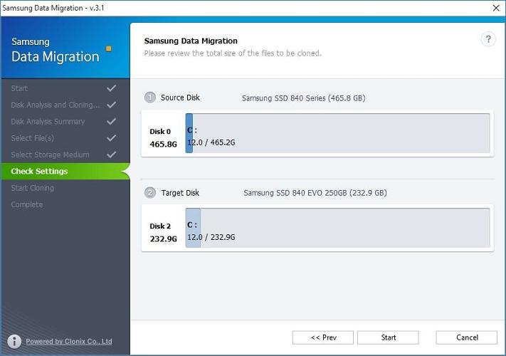 Sao chép Windows sang ổ cứng SSD Samsung mới bằng Data Migration