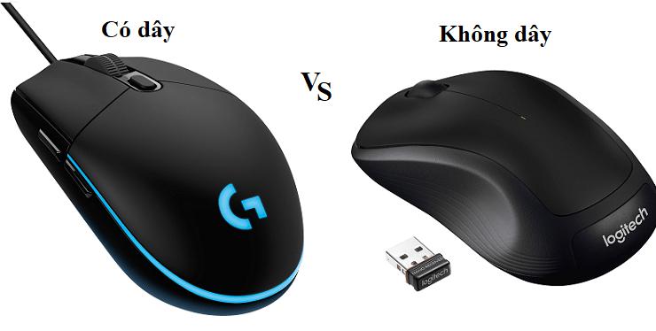 Mua chuột có dây hay không dây tốt hơn