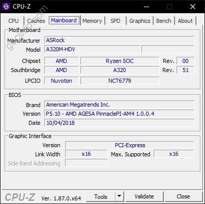 Xem thông tin PC mainboard CPU-Z